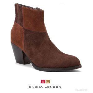 Sacha London brown suede booties